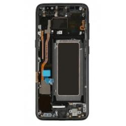 Ekranas Samsung G950F S8 su lietimui jautriu stikliuku ir remeliu juodas originalus (used Grade A)