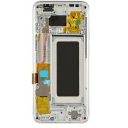 Ekranas Samsung G950F S8 su lietimui jautriu stikliuku ir remeliu sidabrinis originalus (used Grade A)