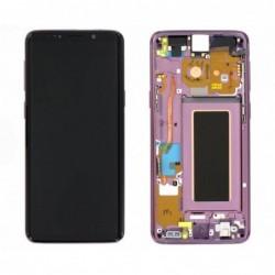 Ekranas Samsung G960F S9 su lietimui jautriu stikliuku ir remeliu violetine (Lilac Purple) originalus (used Grade C)