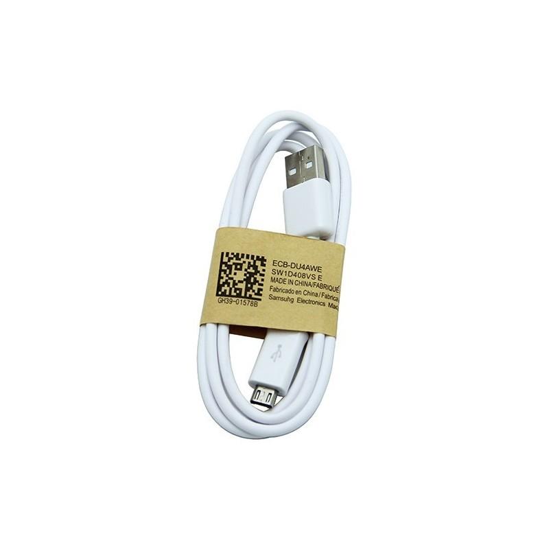 USB kabelis ORG Samsung i9500 S4/N7100 Note 2 microUSB (ECB-DU4AWE) baltas (1M)