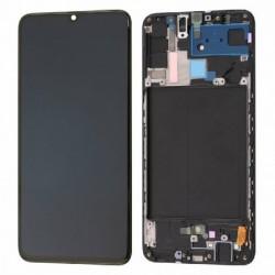 Ekranas Samsung A705 A70 (2019) su lietimui jautriu stikliuku ir remeliu juodas originalus (used Grade C)