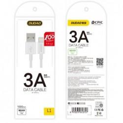 USB kabelis Dudao L1 type-C (3A) 1m baltas