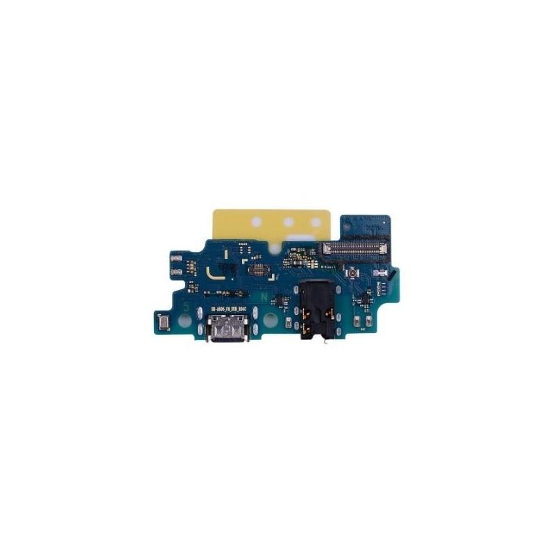 Lankscioji jungtis Samsung A505 A50 2019 su ikrovimo kontaktu, mikrofonu, ausiniu lizdu originali (used Grade A)