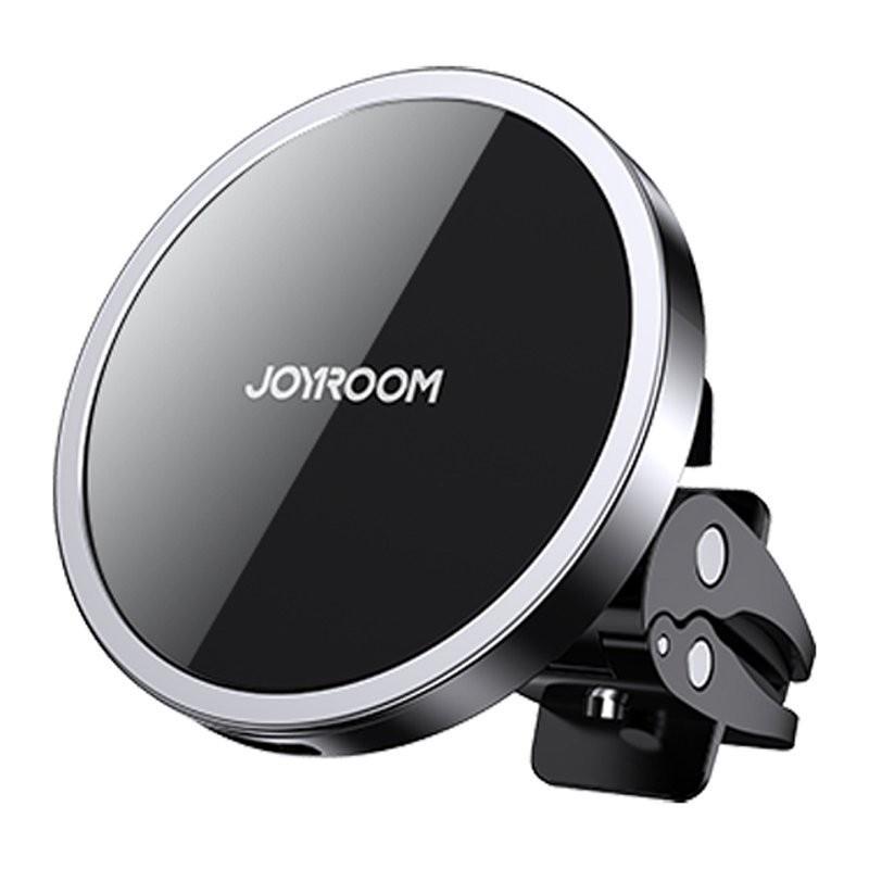 Belaidis ikroviklis-laikiklis Joyroom Magnetic (15W MagSafe Compatible) juodas