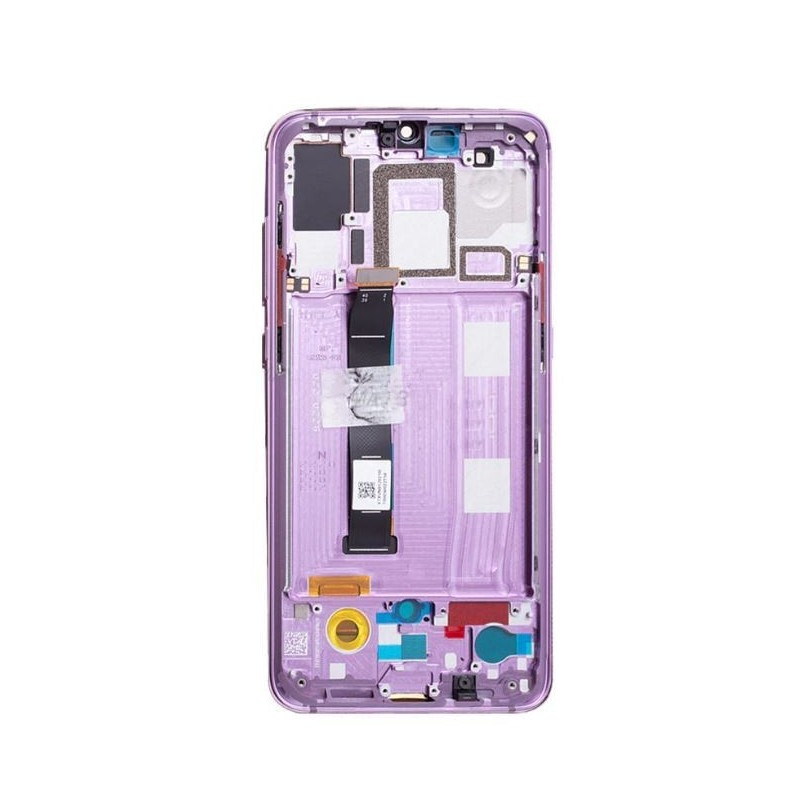 Ekranas Xiaomi Mi 9 su lietimui jautriu stikliuku su remeliu violetinis originalus (service pack)