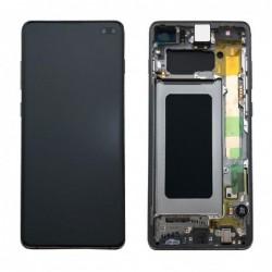 Ekranas Samsung G975F S10 Plus su lietimui jautriu stikliuku ir remeliu juodas originalus (used Grade C)