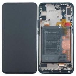 Ekranas Huawei P Smart Z su lietimui jautriu stikliuku su remeliu ir baterija juodas originalus (service pack)