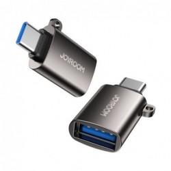 Adapteris JOYROOM (S-H151) is Type-C i USB (OTG) juodas
