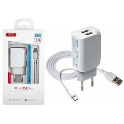 Įkroviklis XO L35D 2x USB +...
