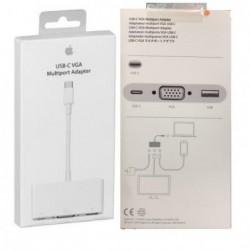 Adapteris Apple iš USB-C (Type-C) į VGA/USB-C/USB (A1620) originalus (used Grade A) pakuotėje