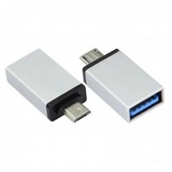Adapteris iš MicroUSB į USB (OTG) aliuminis