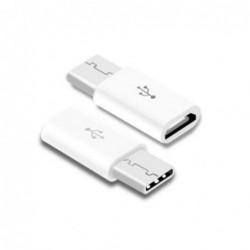 Adapteris iš Type-C į MicroUSB baltas