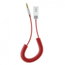 Audio adapteris Baseus BA01 3.5mm Aux Bluetooth 5.0 raudonas