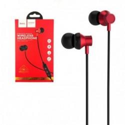 Bluetooth ausines HOCO ES13 Plus Exquisite Sports raudonos