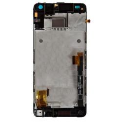Ekranas HTC One Mini (M4) su lietimui jautriu stikliuku su remeliu juodas originalus (used Grade B)