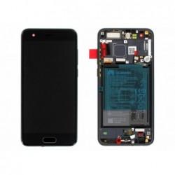 Ekranas Huawei Honor 9 su lietimui jautriu stikliuku su remeliu ir baterija juodas originalus (servi