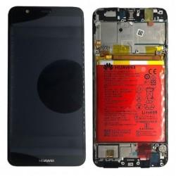Ekranas Huawei P Smart 2017 su lietimui jautriu stikliuku su remeliu ir baterija juodas originalus (