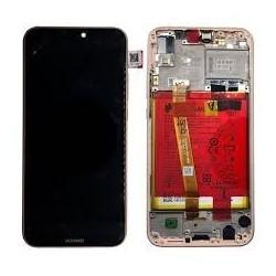 Ekranas Huawei P20 Lite su lietimui jautriu stikliuku su remeliu ir baterija auksinis originalus (se