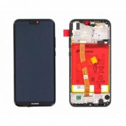 Ekranas Huawei P20 Lite su lietimui jautriu stikliuku su remeliu ir baterija juodas originalus (serv