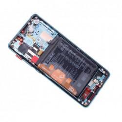 Ekranas Huawei P30 PRO su lietimui jautriu stikliuku su remeliu ir baterija Aurora originalus (servi