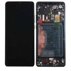 Ekranas Huawei P30 PRO su lietimui jautriu stikliuku su remeliu ir baterija juodas originalus (servi