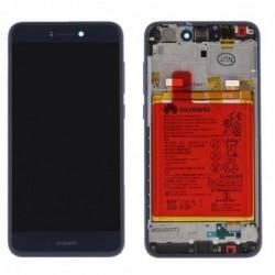 Ekranas Huawei P8 Lite 2017/P9 Lite 2017/Honor 8 Lite su lietimui jautriu stikliuku su remeliu ir ba