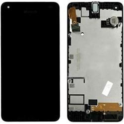 Ekranas Microsoft (Nokia) Lumia 550 su lietimui jautriu stikliuku ir remeliu originalus (used grade