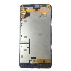 Ekranas Microsoft (Nokia) Lumia 640 su lietimui jautriu stikliuku ir remeliu juodas originalus (used