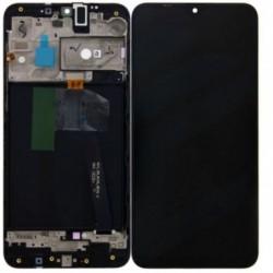 Ekranas Samsung A105 A10 Dual SIM su lietimui jautriu stikliuku ir remeliu juodas originalus (servic