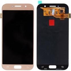 Ekranas Samsung A520 A5 (2017) su lietimui jautriu stikliuku auksinis originalus (service pack)