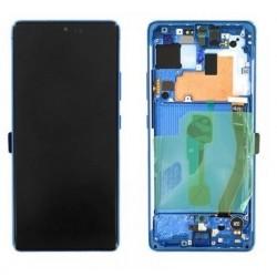 Ekranas Samsung G770F S10 Lite su lietimui jautriu stikliuku melynas originalus (service pack)