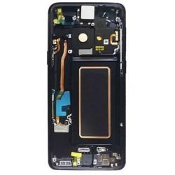 Ekranas Samsung G960F S9 su lietimui jautriu stikliuku ir remeliu juodas (Midnight Black) originalus