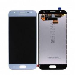 Ekranas Samsung J330F J3 (2017) su lietimui jautriu stikliuku sidabrinis originalus (used Grade A)