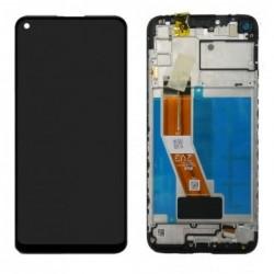 Ekranas Samsung M115 M11 2020 su lietimui jautriu stikliuku juodas originalus (service pack)