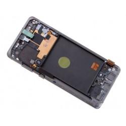 Ekranas Samsung N770F Note 10 Lite su lietimui jautriu stikliuku ir remeliu sidabrinis (Aura Glow) o