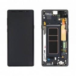 Ekranas Samsung N960F Note 9 su lietimui jautriu stikliuku ir remeliu melynas originalus (used Grade