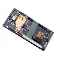 Ekranas Samsung N975 Note 10 Plus/N976 Note 10 Plus 5G su lietimui jautriu stikliuku ir remeliu juod