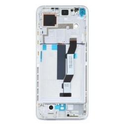 Ekranas Xiaomi Mi 10T su lietimui jautriu stikliuku su remeliu sidabrinis originalus (service pack)