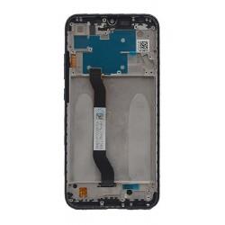 Ekranas Xiaomi Redmi Note 8 su lietimui jautriu stikliuku su remeliu juodas originalus (service pack