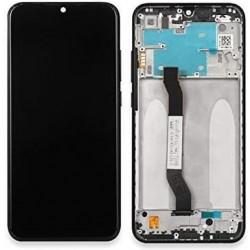 Ekranas Xiaomi Redmi Note 8T su lietimui jautriu stikliuku su remeliu juodas originalus (service pac