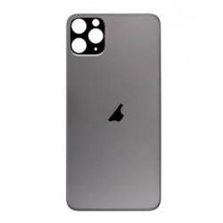 Galinis dangtelis iPhone 11 Pro Max pilkas (space grey) (bigger hole for camera) HQ