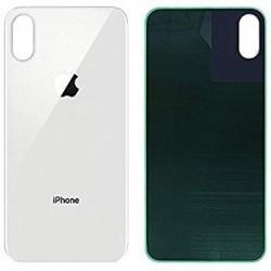Galinis dangtelis iPhone XS Max sidabrinis (bigger hole for camera) HQ