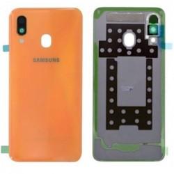 Galinis dangtelis Samsung A405 A40 2019 rausvas (Coral Orange) originalus (used Grade B)