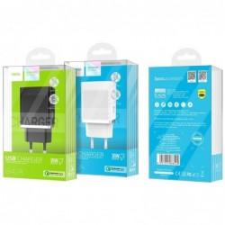 Ikroviklis HOCO C42A Vast power QC3.0 USB 18W (3.6V-6.5V/3A, 6.6V-9V/2A, 9.1V-12V/1.5A) juodas