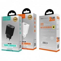Ikroviklis HOCO C51A Prestige power Dual USB (5V 3.4A) baltas