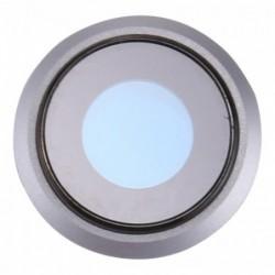 iPhone 8 kameros stikliukas su remeliu sidabrinis ORG