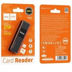 Korteliu skaitytuvas HOCO HB20 (microSD,SD, USB 2.0) juodas