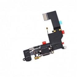 Lankscioji jungtis Apple iPhone 5S audio ir ikrovimo kontaktu, su mikrofonu juoda ORG