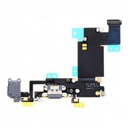 Lankscioji jungtis Apple iPhone 6S Plus audio ir ikrovimo kontaktu, su mikrofonu pilka ORG