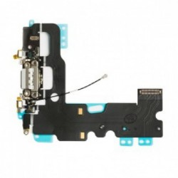 Lankscioji jungtis Apple iPhone 7 ikrovimo kontaktu, su mikrofonu juoda ORG